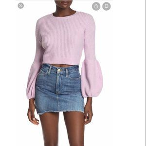 lovers and friends lilac puff sleeve sweater